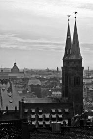 Blick von Burg auf St. Sebald