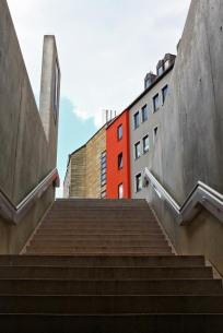 Treppenaufgang U-Bahn Haltestelle Friedrich Ebert Platz