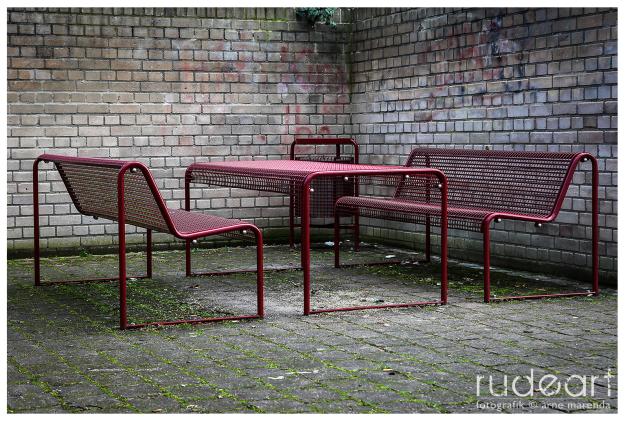 'gemütliches' Sitzeck an der Theodor Heuss-Anlage