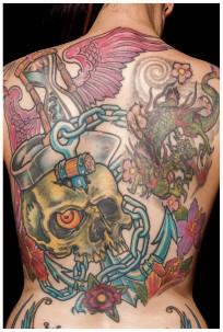 Tattoo: www.taetowierungen-budach.de, Motiv Drache: Body Cult