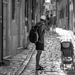 Tourist in Rovinj