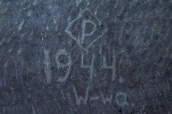 Die Inschrift lässt auf einen Polnischen Zwangsarbeiter schließen